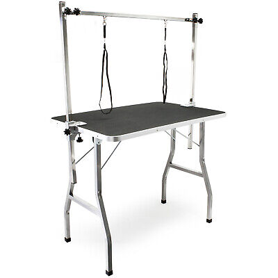 Table de toilettage Réglable 2 sangles Table de soins Chien Chat Grooming Table