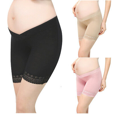 Pregnant Woman Seamless Shorts Stretchy Mention Hip Cotton Low Waist Knickers