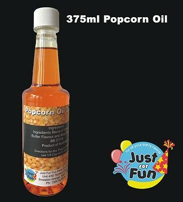375ml Buttery Popcorn Popping Oil For Popcorn Machines