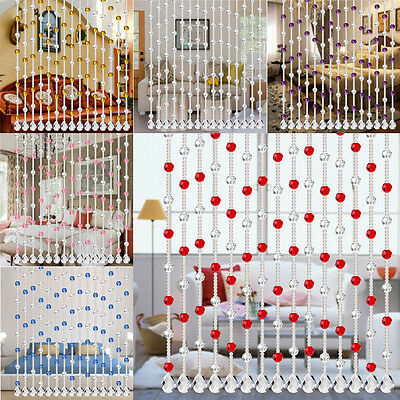Crystal Glass Bead Curtain Luxury Living Room Bedroom Windows Door Wedding Decor