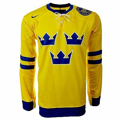 Nike Sweden Mens Official National Ice Hockey Fans Shirts Sizes M - L - Xl