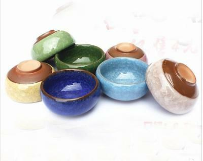 Chinese beautiful ceramic art small dish bowl, ice-cracked glass glaze bowl