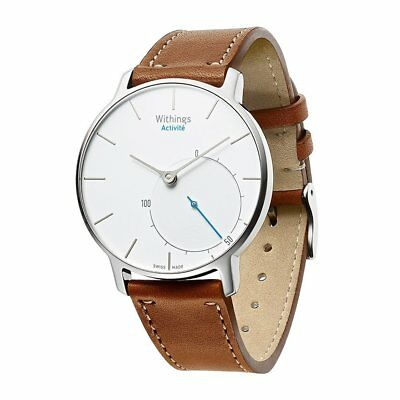 Withings Activite Pop Strap Wrist Watch Band Genuine Leather Steel HR 36mm Brown