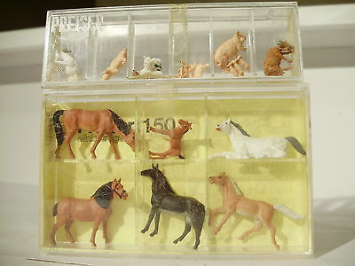 Preiser Horses and farm animals. HO. New old stock. Made in Germany