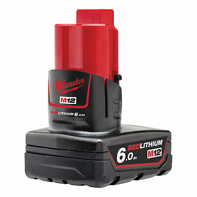 Milwaukee M12B6 12V 6.0Ah REDLITHIUM Li-Ion Battery