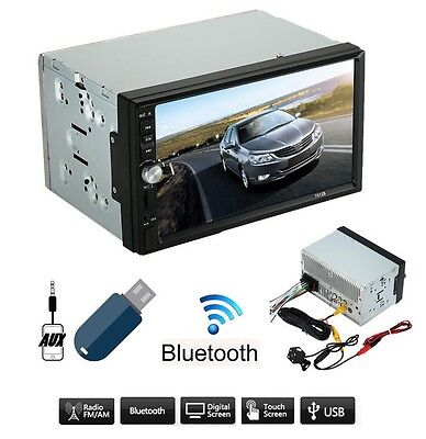 "Autoradio 2 Din 7"" Bluetooth MP5 Stereo Touchscreen USB SD AUX FM RADIO - NO GPS"
