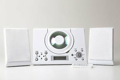 Grouptronics GTMC-101 White CD Player Stereo with FM radio