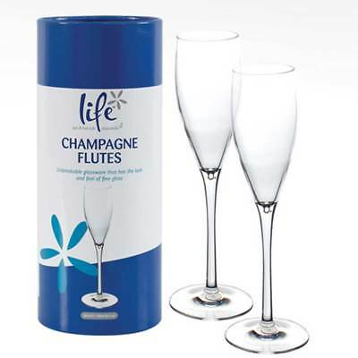 Life Spa, Hot Tub Unbreakable Plastic Glassware Champagne Flutes - Set of 2