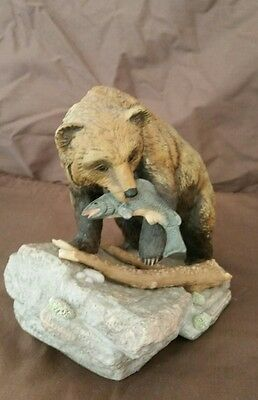BROWN BEAR ENDANGERED SPECIES Masterpiece Porcelain by Homco 1994