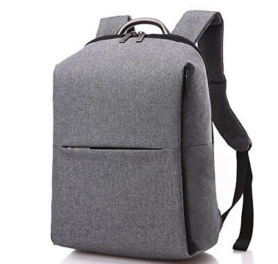 Laptop Backpack Grey 17 Inches with Special Sleeves Travel Messenger Shoulder