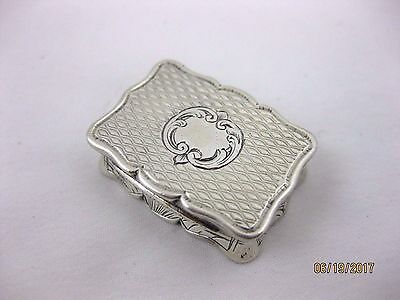 Antique Solid Silver  SMALL VINAIGRETTE   Hallmarked  BIRMINGHAM 1856