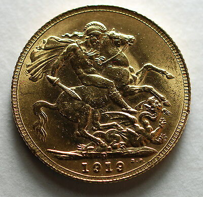 1919 P   AUSTRALIA Perth  MINT GOLD SOVEREIGN COIN