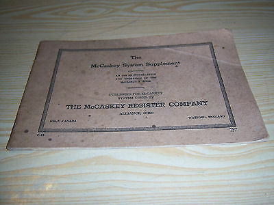 1940's The McCaskey Register Company - The McCaskey System Supplement book