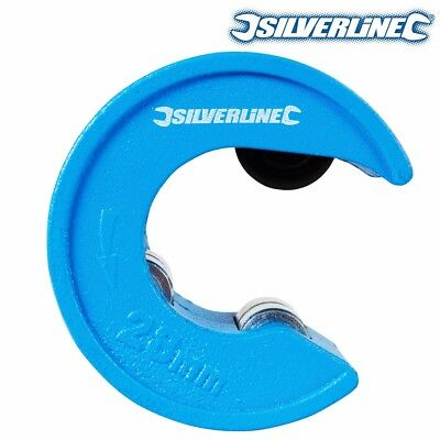 SILVERLINE PIPE CUTTER 28mm Quick Tube Cut/Slice Plumbing COPPER CUTTING TOOL