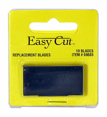 2 Packs Easy Cut Safety Box Cutter Knife REPLACEMENT BLADES 10 EA/PK EASYCUT