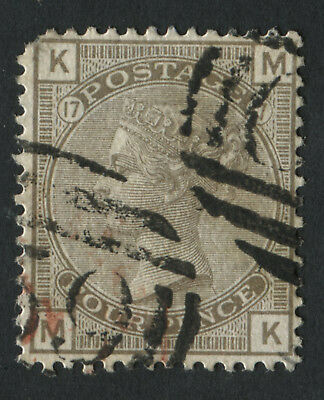 GB Used in HAITI Z12 4d Grey-brown plate 17, MK, cancelled C59 of Jacmel