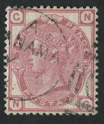 GB Used in PANAMA Z82 3d Rose Pl20, NG, Fine used with part Panama duplex