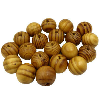 25x Natural Striped Wood Beads for Jewelry Making Charms Kids Crafts 25mm