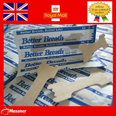 30 Nasal Strips Better Breath Right Anti Snoring Large Medium Reg Running tan UK