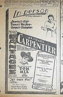 1926 San Francisco Newspaper Ad - Boxer Georges Carpentier Personal Appearance