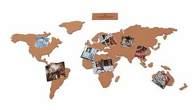 Corkboard Map Adhesive Map of the World by Luckies