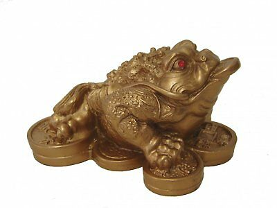 Money Frog Feng Shui Chinese Three Legged Toad Attract Wealth Prosperity Dcor