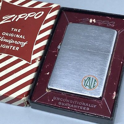 1955 Yale Vintage Zippo Lighter with Red & White Candy Stripe Box - Unfired