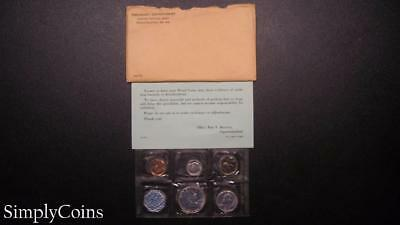 1960 Proof Set ~ Original Envelope With COA ~ US Mint Silver Coin Lot SKU-334