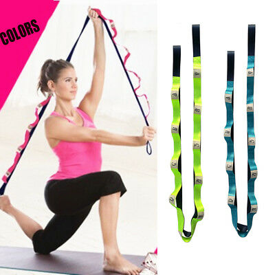 185cm Yoga Strap Training Belt Waist Leg Exercise Fitness Flexible Multi-Grip