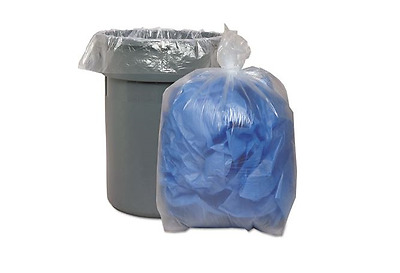 Extra-Heavy Grade Trash Bags, Liners, 33x39, 1.4 Mil, 33 Gal, Clear (100 Count)
