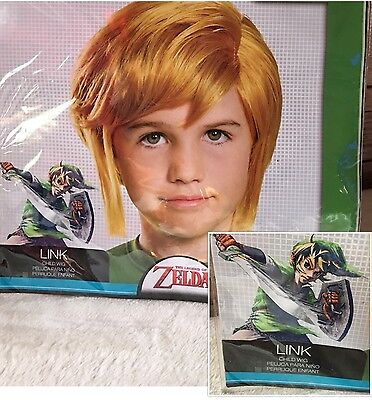 The Legend of Zelda Link Children's Wig New Cosplay Comic Con World Of Nintendo