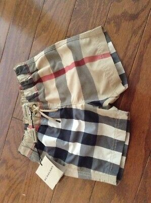 Authentic Burberry Nova Check Baby Boy Swim Shorts Bathing Trunks Sz 9M $113