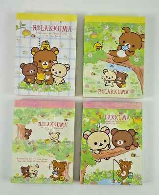 San-x Rilakkuma Kogumachan Honey Forest Mini Memo Pad Lot Stationery Kawaii