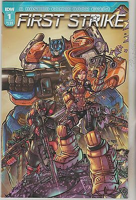 Idw Comics First Strike #1 August 2017 Variant D 1St Print Nm