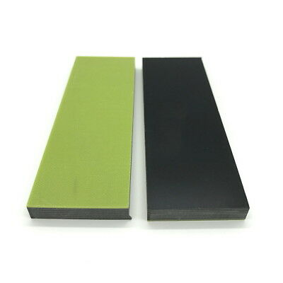 """Fluorescent Green Paper Micarta Knife Handle Material Scales .31"""" x 1.5""""x 4.7"""" N"""