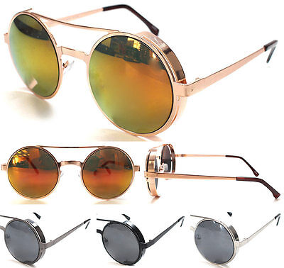 Vintage Retro Mirror Round SUN Glasses Goggles Steampunk Punk Sunglasses s