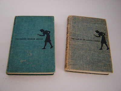 Nancy Drew Books - The Clue Of The  Leaning Chimney- The Hidden Window -1956