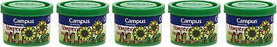 CAMPUS University G40 – 5 GN – Tempera Paint 5 Tubs 40 g, Green