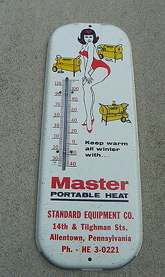 Master Portable Heater Thermometer W/ Pin Up Girl  Allentown Pa