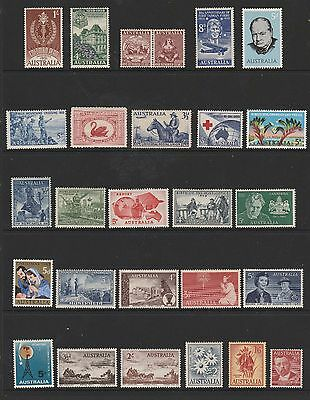 Australian Pre-Decimal Mint Stamps - 70 different stamps on 3 scans (#100803)
