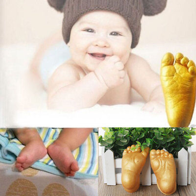 Baby Handprints Footprints Cast Mould 3D Hand Feet Plaster Casting Kit Keepsake