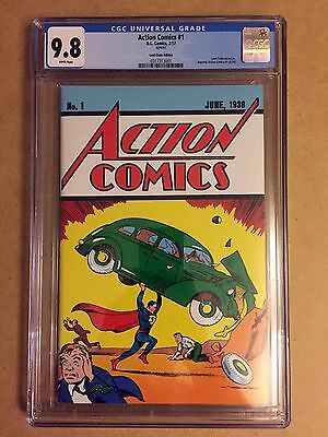 Action Comics #1 Loot Crate Exclusive Reprint Cgc 9.8 1St Appearance Superman