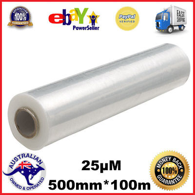 1/2 /4/8 Rolls 500mm x 400m 25µM  CLEAR Hand Stretch Film for Pallet Shrink Wrap