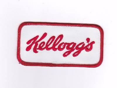 """Vintage Kellogg's Applique Patch 4"""" x 2"""" Cloth Sew On Embroidered Patch"""
