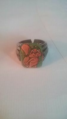 ROCKY THE FLYING SQUIRREL FLICKER  ACTION RING FROM 1960's ROCKY & BULLWINKLE
