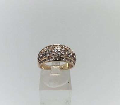 10Ct Yellow Gold Wideband 1.4 Ct Diamond Ring Valued@$2162 Comes With Valuation