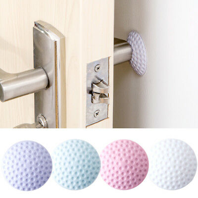 2x Self Adhesive Wall Protector Door Handle Guard Stopper Rubber Stops Home Tool