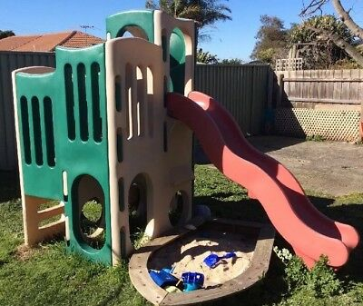 climbing equipment/gym With Small & Large Slides & 1 Tunnel Little Tikes