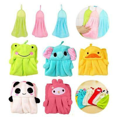 Soft Plush Coral Velvet Hand Wash Drying Towel Hanging Wipe Clean Kitchen Towel