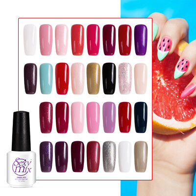 Sexymix New UV Gel Nail Power Polish ALL 120 Colours, Top Coat or Base Coat